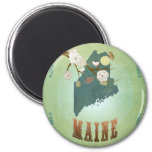 Maine State Map – Green Fridge Magnets