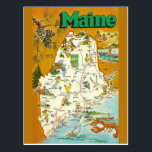 "Maine State  Map Postcard<br><div class=""desc"">Maine State  Map</div>"