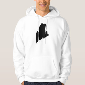 Maine state outline hoody
