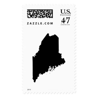 Maine state outline postage