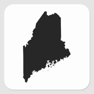Maine state outline square sticker