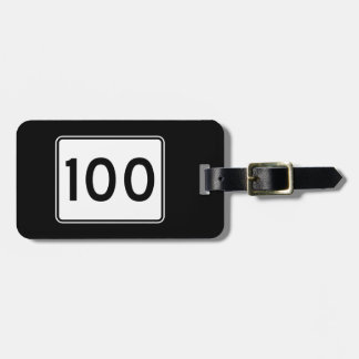 Maine State Route 100 Bag Tag