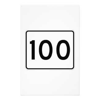 Maine State Route 100 Stationery