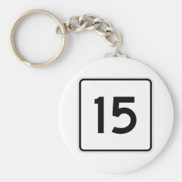 Maine State Route 15 Keychain