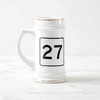Maine State Route 27 Beer Stein