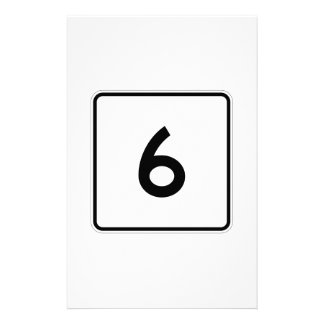 Maine State Route 6 Stationery