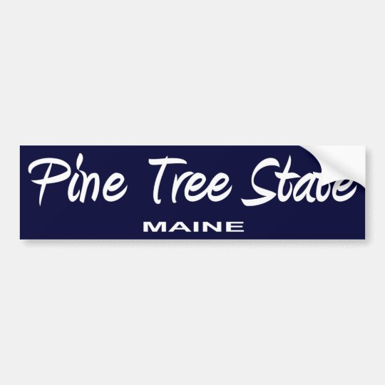 Maine State Slogan Bumper Sticker
