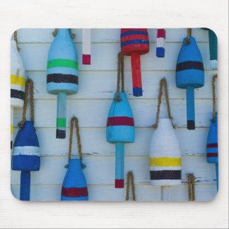 Maine, Stonington, decorative lobster buoys Mouse Pad