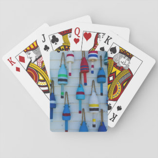 Maine, Stonington, decorative lobster buoys Playing Cards