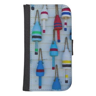 Maine, Stonington, decorative lobster buoys Wallet Phone Case For Samsung Galaxy S4