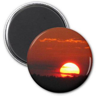 Maine Sunset 2 Inch Round Magnet