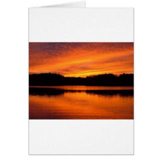Maine Sunset Card