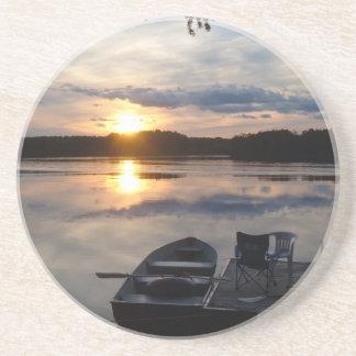 Maine Sunset Coaster