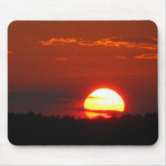 Maine sunset mouse pad