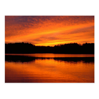 Maine Sunset Postcard
