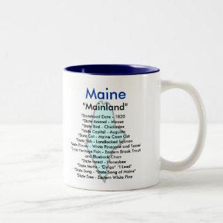 Maine Symbols & Map Coffee Mug