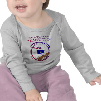 Maine Tax Day Tea Party Protest Baby Shirt