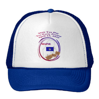 Maine Tax Day Tea Party Protest Baseball Cap Hats