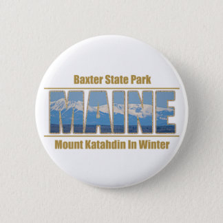 MAINE Text Image - Mount Katahdin Button