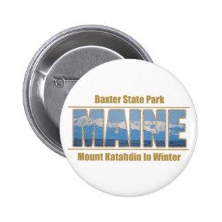 MAINE Text Image - Mount Katahdin Button
