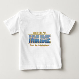MAINE Text Image - Mount Katahdin Tee Shirt