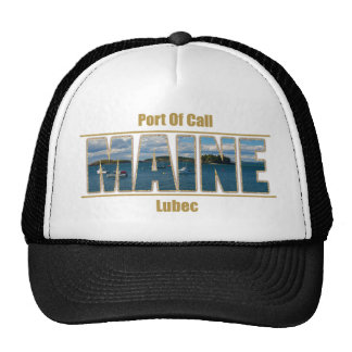 Maine text Image - Port Of Call Trucker Hat