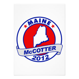 Maine Thad McCotter Personalized Invitations