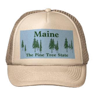 Maine, The Pine Tree State Cap Mesh Hat