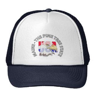 Maine The Pine Tree State USA Hat