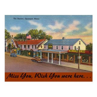 Maine, The Square, Ogunquit Postcard