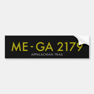 Maine to Georgia 2179 Miles - Appalachian Trail Bumper Stickers