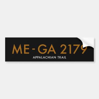 Maine to Georgia 2179 Miles - Appalachian Trail Car Bumper Sticker