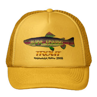 Maine  Trout  Fishing Trucker Hats