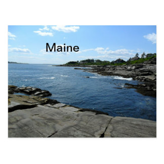Maine Two Lights Postcard