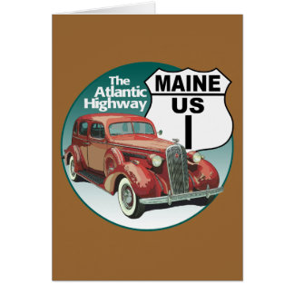 Maine US Route 1 - The Atlantic Highway Card
