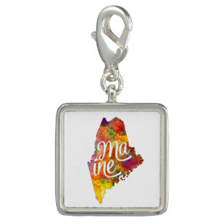Maine US State in watercolor text cut out Dijes Con Foto