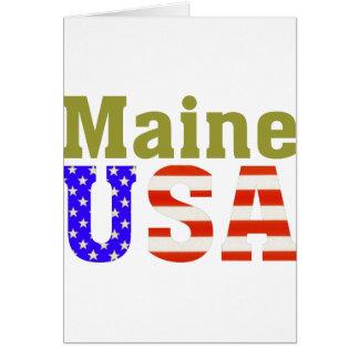 Maine USA! Card