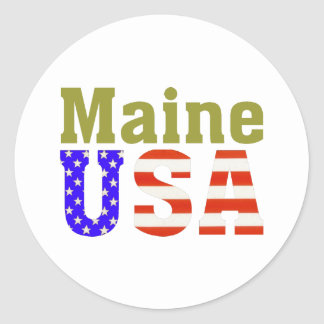 Maine USA! Classic Round Sticker