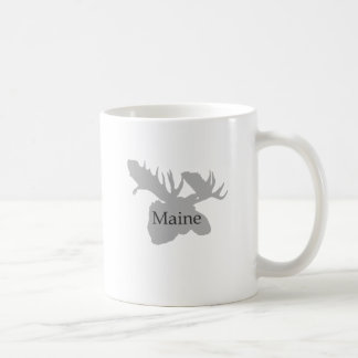 Maine USA Logo (moose) Classic White Coffee Mug