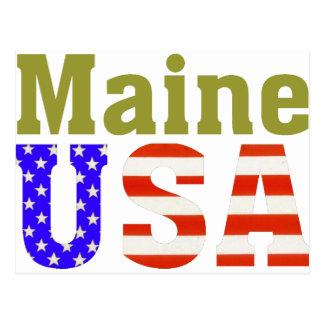 Maine USA! Postcard