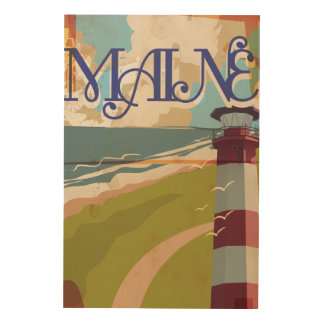 Maine Vintage Travel Poster