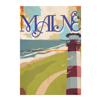Maine Vintage Travel Poster Canvas Print