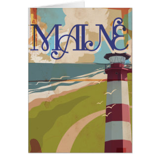 Maine Vintage Travel Poster Card