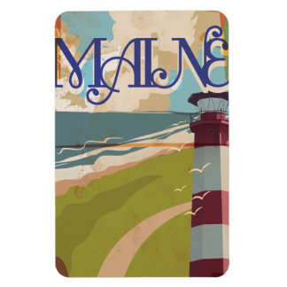 Maine Vintage Travel Poster Magnet