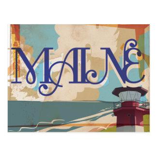 Maine Vintage Travel Poster Postcard