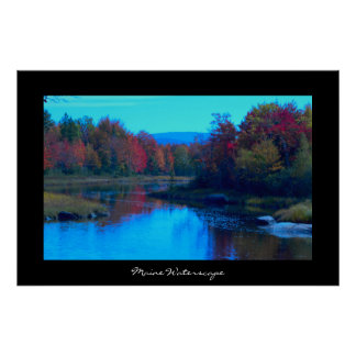 Maine Waterscape Photo Poster