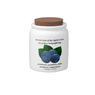 Maine Wild Blueberry Summer Fruit Bible Verse Candy Jar