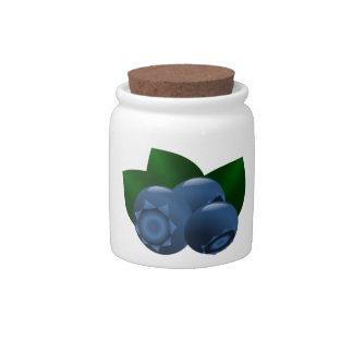 Maine Wild Blueberry Summer Fruit Candy Jars