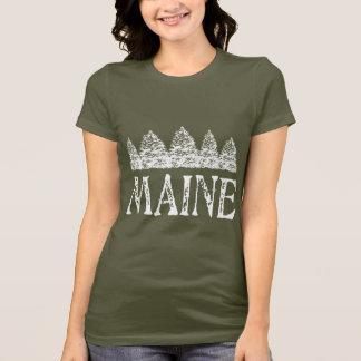 Maine Winter Evergreeens T-Shirt