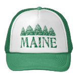 Maine Winter Evergreeens Trucker Hat